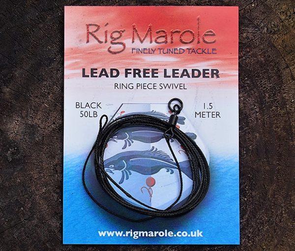 Rig Marole - Lead Free Leader Ring Piece Swivel Green 50lb 1m 1