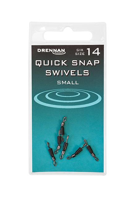 Drennan Quick Snap Swivels - Small - Size 14 1