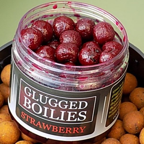 Angling Bait Company - Glugged Boilies Strawberry 1