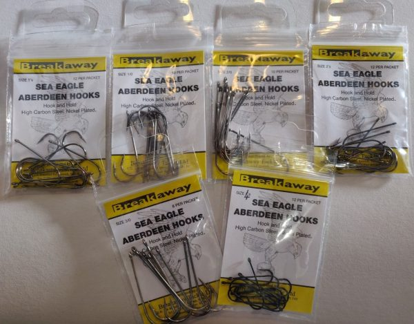 Breakaway Tackle - Sea Eagle Aberdeen Hooks Size 1 1