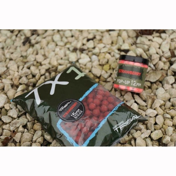 Shimano - TX1 Strawberry Boilie - 15 mm 1